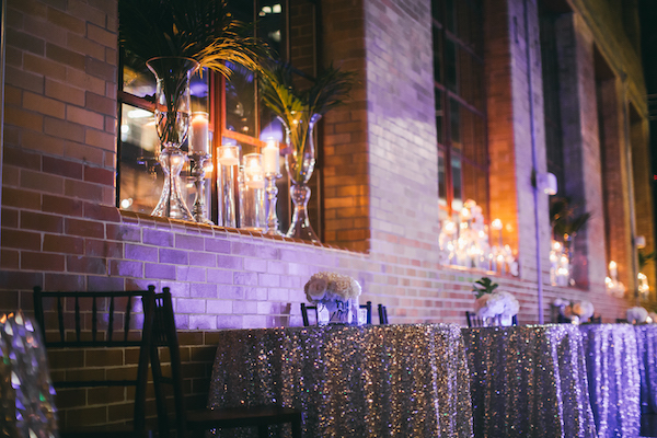 E'MAGINE EVENTS & CO - North Carolina wedding planner – North Carolina Luxury wedding planner – North Carolina weddings - event decor - silver sparkle linen