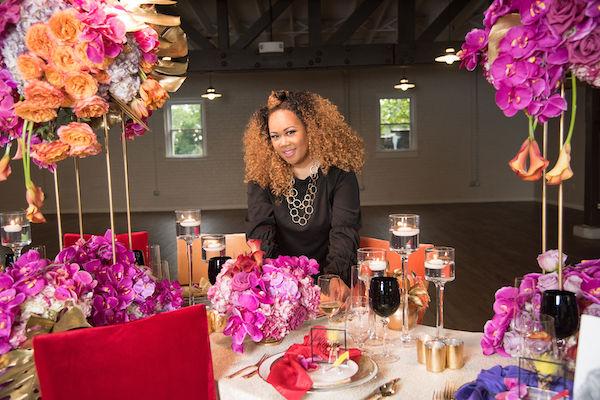 brightly colored floral decor - fuchsia and orange floral design - Shaunda Eggleston - Living Single - North Carolina social event planner