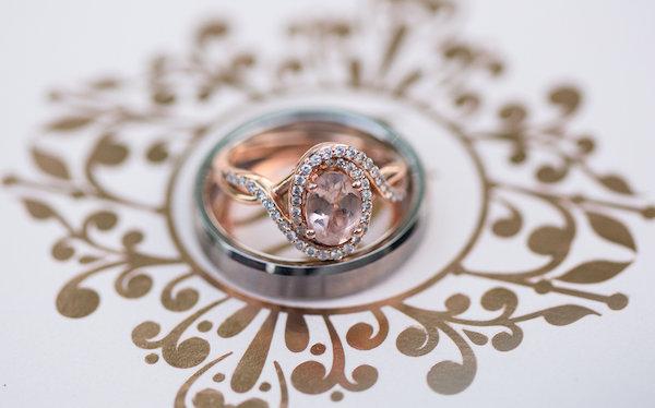 Winston Salem Wedding - Winston Salem wedding planner - North Carolina wedding planner - rose gold wedding - pink wedding - rose gold engagement ring