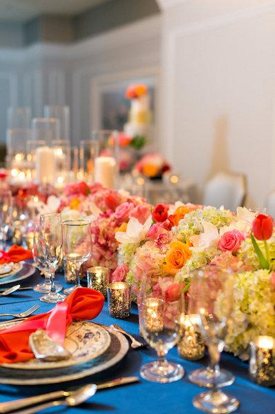 E'MAGNE Events & Co - North Carolina luxury wedding planner - branded logo - orange and navy blue wedding