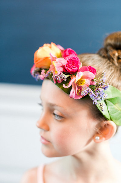 E'MAGNE Events & Co - North Carolina luxury wedding planner - branded logo - orange and navy blue wedding - flower girl head pieces
