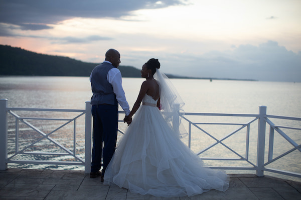 North Carolina destination wedding planner- Jamaica destination wedding - bride and groom- bride and groom at sunset