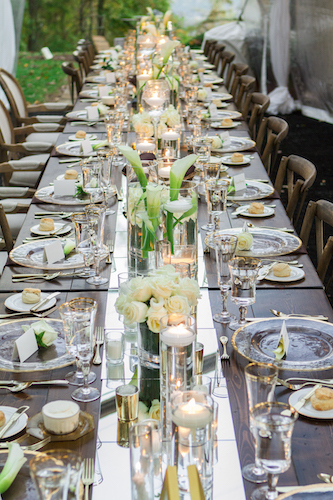 micro wedding - luxurious micro wedding - floating candles - white floral centerpieces - North Carolina weddings - North Carolina luxury wedding - North Carolina micro wedding