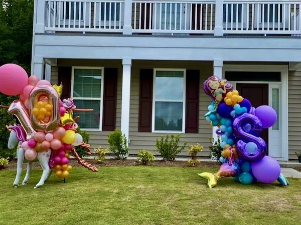 unicorns, mermaids, unicorn balloon art, mermaid balloon art, North Carolina balloon decorations