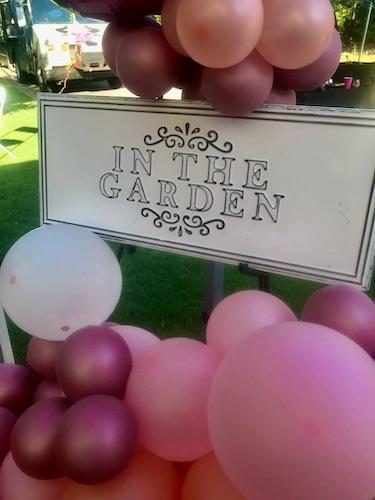 North Carolina Wedding planner, North Carolina Event Planner, E'MAGINE Events & Co, balloon decor, North Carolina balloon decorations, balloons for event entrance - rose garden event
