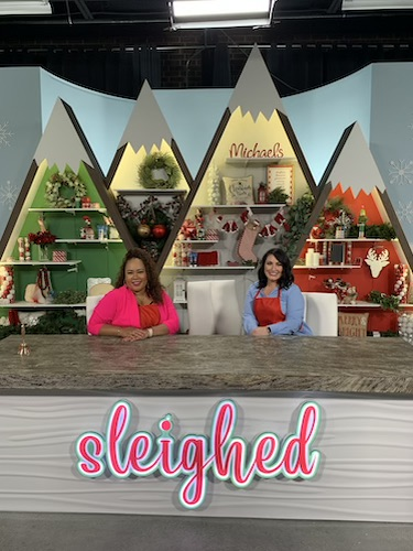 Shaunda Eggleston and her competition on the set of Sleighed