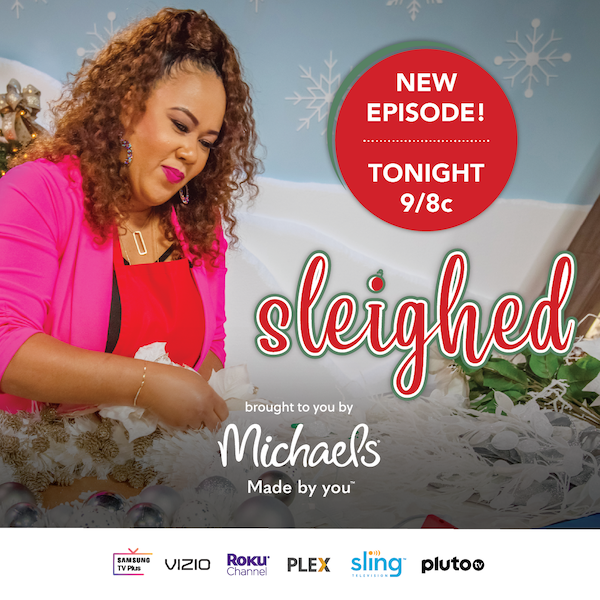 North Carolina wedding and event planner Shaunda Eggleston in The Design Netowkr's promo for their new holiday show Sleighed