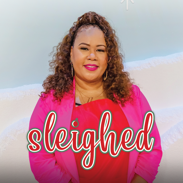 North Carolina Wedding and Event Planner Shaunda Eggleston of E'Magine Events and Co on the set of The Design Network's holiday show Sleighed