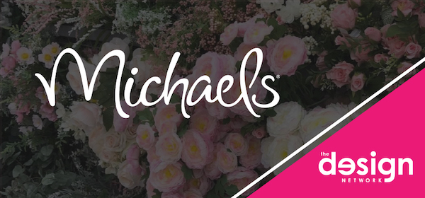 logo for Michaels craft store and The Design Network for Sleighed